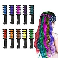 4-13歳の女の子のためのギフト、女の子のためのヘアチョークメイクアップ女の子のためのギフト4-13歳の洗える一時的な髪の染料