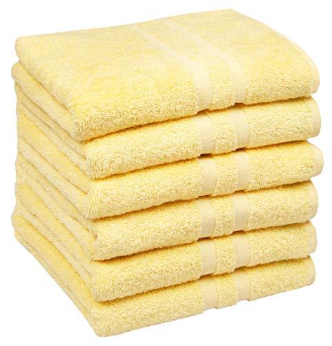 ZOLLNER 6 Asciugamani da Bagno, 50x100 cm, 100% Cotone, Altre Misure e Colori
