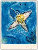Marc Chagall Pósters Angel con un candelabro de lienzo Lámina Famosa pintura al óleo Abstracto Arte de la pared Arte de arte Fotografía Decoración del hogar 40x60cm sin marco