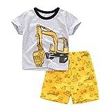 BeedooDoobee 2 – 7 años para niños pequeños conjuntos cortos para ropa de verano 2 unids camiseta+pantalones cortos bebé niños verano traje - - 7 años