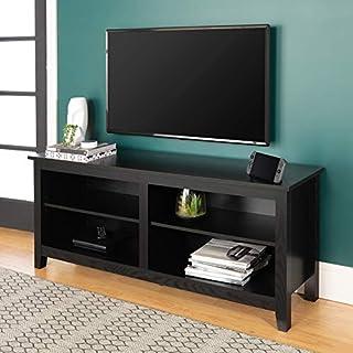 Walker Edison Furniture 58-Inch Wood TV Console, Black (B007CGQC1Q) | Amazon price tracker / tracking, Amazon price history charts, Amazon price watches, Amazon price drop alerts