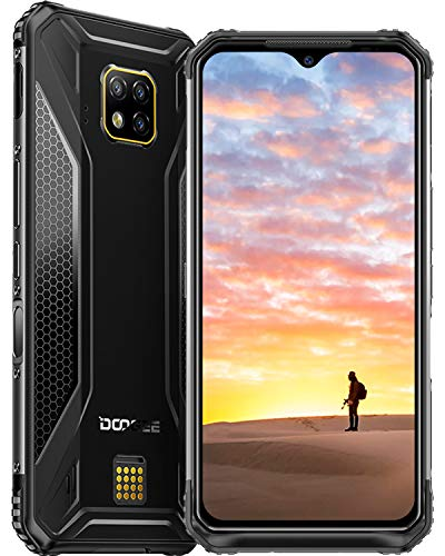 Robustes Handy Entsperrt, DOOGEE S95 Pro 2020 Outdoor Smartphone ohne Vertrag Android 9.0, IP68 Dual SIM 4G, 8GB+256GB Helio P90, 5150mAh Akku/6,3 Zoll 48+8+8+16MP Kameras/NFC/GPS/Kabellose Aufladung