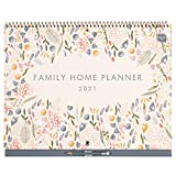 (en inglés) Family Home Planner de Boxclever Press. Calendario 2020 2021 pared vista mensual, formato 6 columnas. Calendario 2020 2021 con pestañas mensuales. Planificador mensual sept '20-dic '21