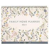 Boxclever Press Family Home Planner 2021 Calendar. Family Calendar 2021 with 6 Column