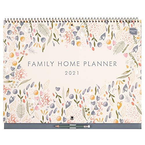 Family Home Planner de Boxclever Press (en inglés). Calendario 2021 pared con formato 6 columnas. Planificador mensual con 16 meses comienza ahora y se extiende hasta diciembre'21.