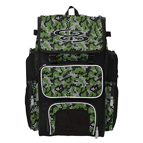 Boombah Superpack Bat Pack Ink Rattler Black/Lime Green/White