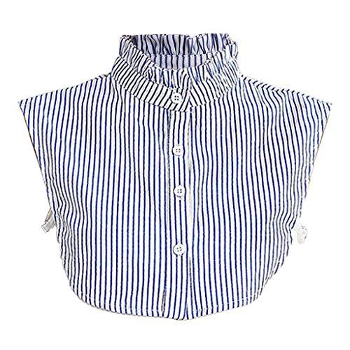 Tandou Fake Kragen Abnehmbare Blusenkragen Krageneinsatz Damen (Hellblau)