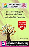 3 Dec 2019 Paper 1 UGC NTA NET Question Paper with answers (English Edition)