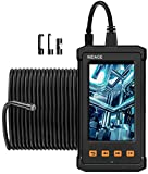 NIDAGE 50FT Inspection Camera, Sewer Drain Industrial Endoscope 1080P HD Borescope Camare with 4.3inch IPS Screen, IP67 Waterproof Snake Camera with Light, 2800mAh Battery, 8GB TF Card