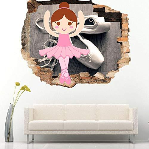 HUGF Wandtattoo Ballett Ballerina Mädchen Schlafzimmer Wandaufkleber Schlafzimmer Mädchen Jungen Living Kids