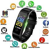 LIGE Fitness Trackers,Pantalla táctil a Color Rastreador de Actividad con Monitor de Ritmo cardíaco Monitor de sueño Impermeable Relojes de Fitness Hombre,Mujer Pulsera Inteligente para iOS y Android