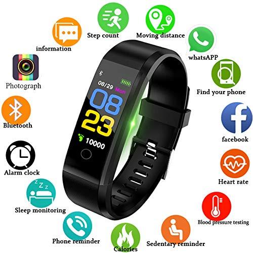 LIGE Fitness Tracker, Activity Tracker con Cardiofrequenzimetro Monitor del Sonno Impermeabile Sport all\'aperto Orologio Fitness Braccialetto Intelligente per la connessione Bluetooth iOS e Android