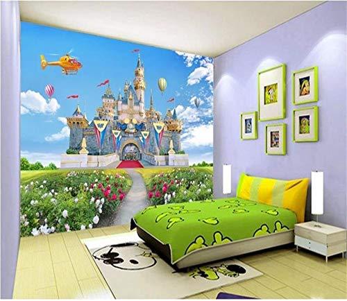 400x280cmHD Wandbilder Wallpaper Wandbilder für Wände Wandbilder für Schlafzimmer , 3d Wallpaper Fototapete Benutzerdefinierte Kinder Wandbild Blumen Schloss Ballon Kinderbett Zimmer 3d Malerei Sofa