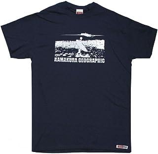 鎌T ビーチブレイク(サーファーと江ノ島) オリジナルシルクプリントTシャツ サーファーと江の島 1枚1枚手刷りで仕上げるオリジナルプリントTシャツです。