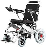 BXZ Silla de ruedas Silla de ruedas eléctrica de lujo Plegable Silla eléctrica portátil Ligera y duradera para adultos Sillas de ruedas eléctricas Tipo de luz de viaje plegable Adecuado para adultos
