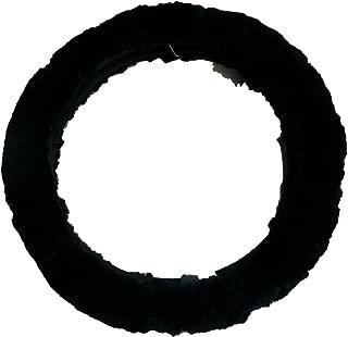 Woolworks Australian Sheepskin Steering Wheel Cover - Black