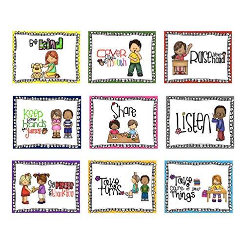 Artibetter 9 stücke klassenzimmer Regeln Poster für klassenzimmer büro Dekorationen wandkunst für Lehrer schüler Schule