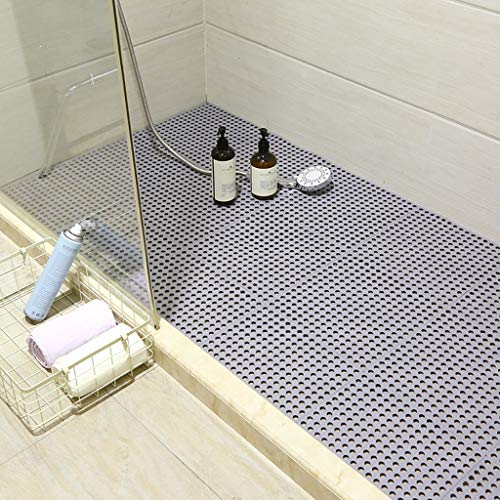 Best Price Bath mats antiscivolo Absorbent Floor Mat Stitching Shower Room Bathing Water Hollow Plas...