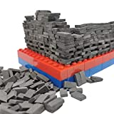 MOMAA 1/35 Miniature Brick -Scale Wall Bricks Mini Bricks Model DIY Dollhouse Bricks Diorama Fairy Garden Sand Table Micro Landscape Accessories(red+Grey) (Grey)