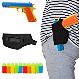 WAOOTUENTL Classic Foam Play Toy Gun Colt 1911 Toy Gun with Tactical Holster and Colorful Soft Bullets,Fun Outdoor Game,Blue