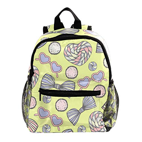 Yellow Summer Beach Kids backpacks,Cute Lightweight Resistant Preschool Backpack for Boys and Girls Chest Strap