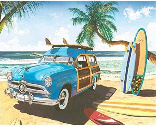 WFTD Rompecabezas de 1000 pcs Puzzle Rompecabezas Paisaje de Tablas de Surf Adultos niños Art de Arte DIY