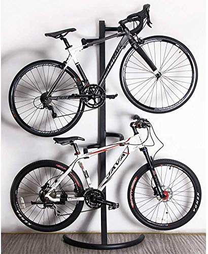 Drohneks - Portabicicletas de suelo para 2 bicicletas, doble portabicicletas, garaje al...
