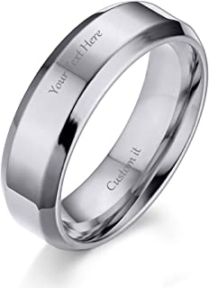 Best custom engraved silver rings Reviews
