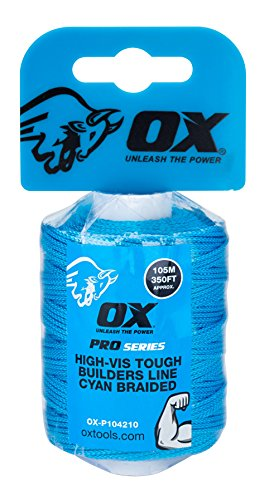 OX Pro Tough Nylon Braided Builders Line 105m / 350ft - Cyan