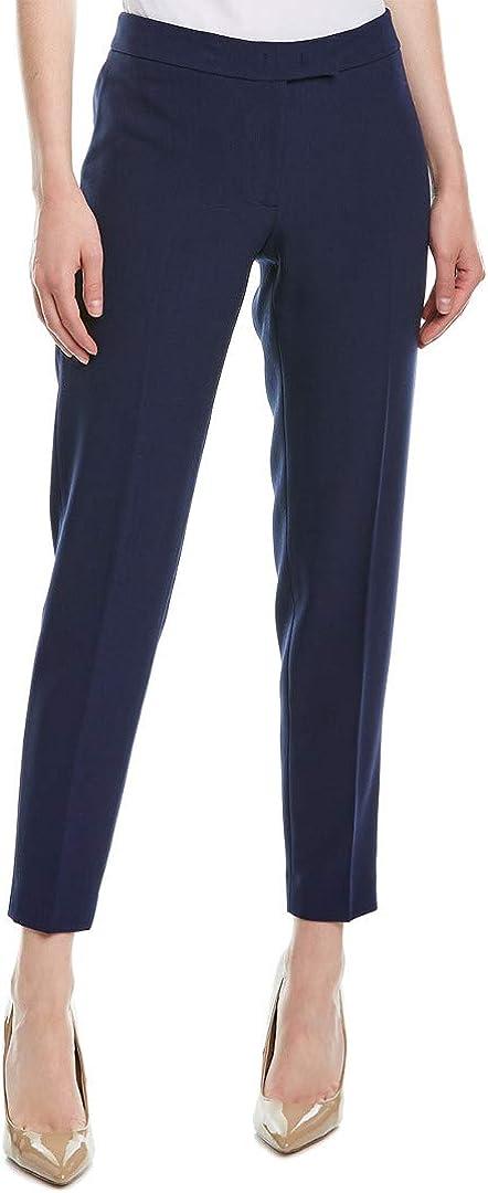 Anne Klein Womens Navy Straight Leg Wear to Work Pants Size 8