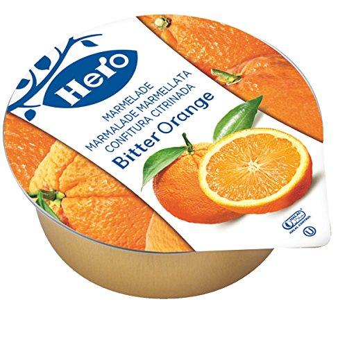 Hero Confitura de Naranja Amarga en Porciones Natural Sin Conservantes Ideal para Hostelería 72 unidades de 25 g