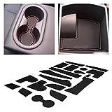 CupHolderHero for Hyundai Kona Accessories 2018-2021 Premium Custom Interior Non-Slip Anti Dust Cup Holder Inserts, Center Console Liner Mats, Door Pocket Liners 19-pc Set (Solid Black)