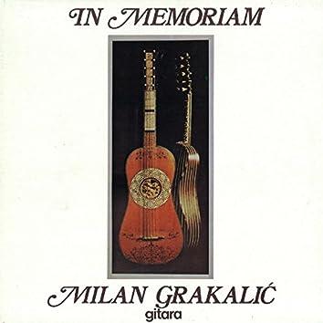 In Memoriam - Milan Grakalić, Gitara