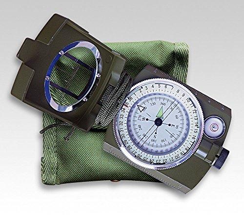 Linder Survival Compass, metalen behuizing, draaibare schaal, waterpas, kompas