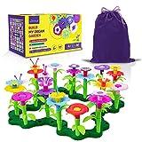 Limmys El Juguete para niñas pequeñas Build My Dream Garden de 105 Piezas – Juguete Stem educacional para niñas de 3 años y adelante – Incluye Bolsa para Guardar de Terciopelo con cordón