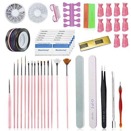 Comius Sharp Accesorios para Uñas Decoracion, Kit de Accesorios Decoración Uñas Nail Art, Kit de Herramientas...