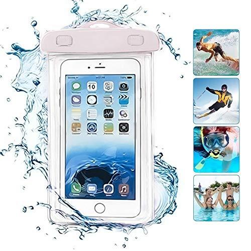 ONX3 Weißes wasserdichtes Universaltelefon-Strand-Pool-Regen-Dokumenten-Wertsachen-Schutz-Fall-Beutel kompatibel mit Huawei Honor 9i