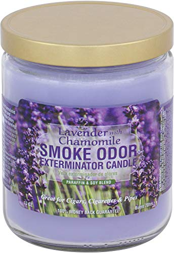 Smoke Odor Exterminator 13 oz Jar Candles Lavender Chamomile, Pack of 2