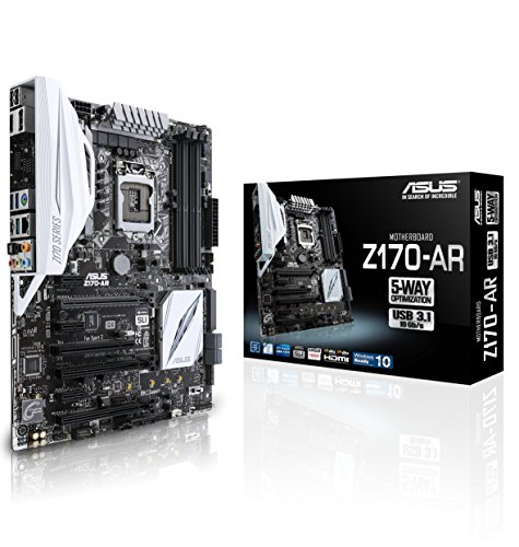 ASUS Z170-AR Motherboard unlock superb performance with a single click tap into USB 3.1 with Type-A and Type-C ports