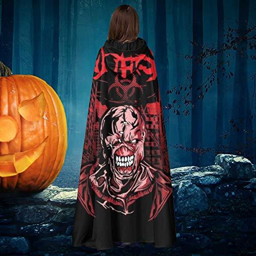 OJIPASD Nemesis - Disfraz de Capa de Vampiro con Capucha, Unisex, para Halloween, Bruja y Caballero