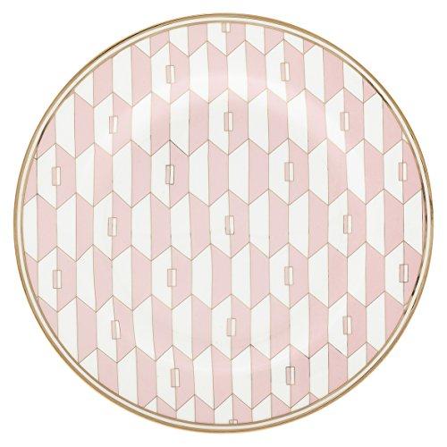 GreenGate Gate Noir Aurelie Pink Assiette à dessert en porcelaine 20 cm