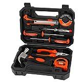 ValueMax Werkzeugset Haushalt 8tlg. Werkzeugsatz mit Aufbewahrungskoffer, für Renovierung und elektrische Reparatur