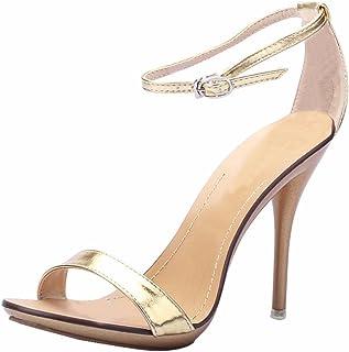 Jiu du Women s Heeled Sandals Open Toe Ankle Strap Stiletto High Heels for  Party Evening Prom ec9e6cba61a2