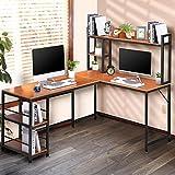 CosHall Escritorio, mesa de ordenador, mesa de esquina en forma de L, mesa de oficina, mesa de juegos, mesa de oficina, mesa de esquina, mesa de trabajo, mesa de estudio, mesa de 150, 120, 74 cm