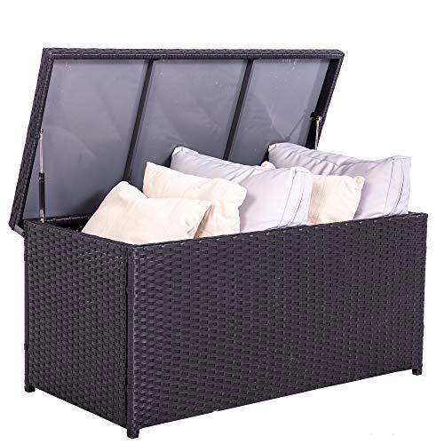 Sundale Outdoor Storage Box, 60 Gallon Wicker...