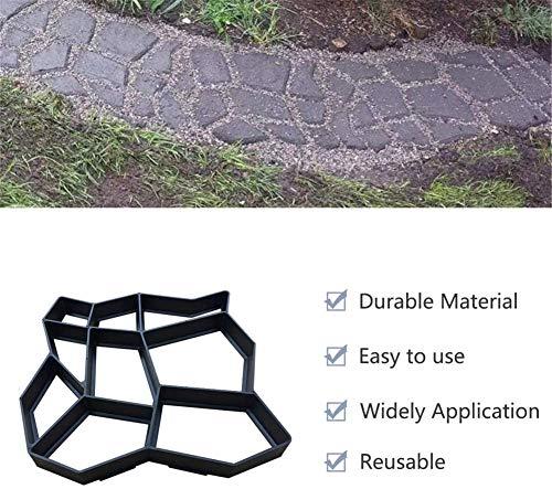 Dragon Honor Molde de Piedra Walk Maker, Molde de Camino de pavimento Manual Personalizado de Bricolaje, Patio de jardín de moldeo de Cemento de hormigón Reutilizable,Path Maker Mould (36x36x3.6CM)