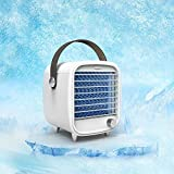 HAYOSNFO Personal Space Air Cooler, Portable Air Conditioner Fan, Mini Air Circulator Humidifier Misting Fan with LED Light, Stepless speed Fan for Home Office Bedroom