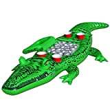 GoFloats Giant Party Gator Floating Alligator with Cooler and Cup Holders, Over 6' Long