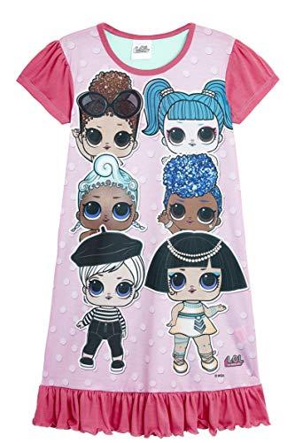 L.O.L Surprise Nachthemd oder Schlafanzug Puppen Confetti Pop für Mädchen LOL Baby Littles (7-8 Jahre, 6 Charakter Nachthemd)
