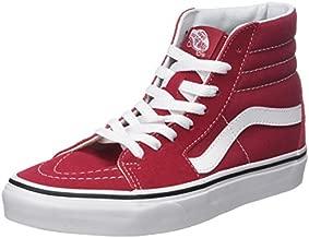 Vans Unisex Adults' Sk8-Hi Hi-Top Trainers, Red (Crimson/True White Q9U), 8.5 UK 42.5 EU